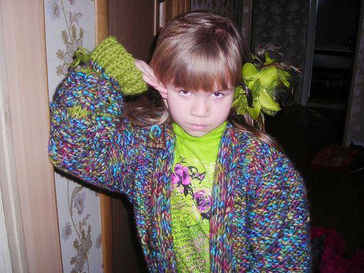 """Одежда для девочек, ручной работы. Ярмарка Мастеров - ручная работа. Купить Комплект для девочки (8-10 лет) """"Голубая лагуна"""". Handmade."""