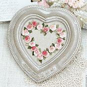 Картины и панно ручной работы. Ярмарка Мастеров - ручная работа Heart with roses. Handmade.