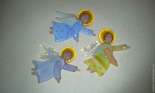 Магниты ручной работы. Ярмарка Мастеров - ручная работа. Купить магнит из стекла Ангел. Handmade. Сувенир, стекло, магнит