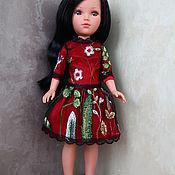 Одежда для кукол ручной работы. Ярмарка Мастеров - ручная работа Праздничное платье для куклы Vidal Rojas (красный). Handmade.