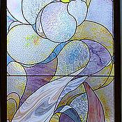 Для дома и интерьера ручной работы. Ярмарка Мастеров - ручная работа Витраж тиффани в окно-Свечение перламутра.. Handmade.
