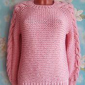 Одежда handmade. Livemaster - original item Sweater pink. Handmade.