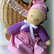 Куклы и игрушки ручной работы. Ярмарка Мастеров - ручная работа Сиреневое облачко, вальдорфская куколка. Handmade.