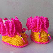 Работы для детей, handmade. Livemaster - original item Booties for girls.. Handmade.