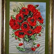Картины и панно ручной работы. Ярмарка Мастеров - ручная работа Утренний букет красный. Handmade.