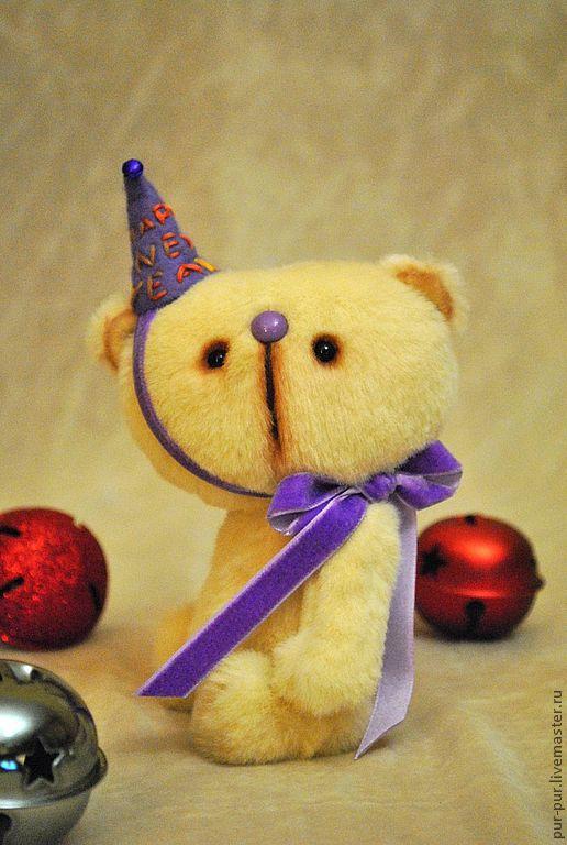 Мишки Тедди ручной работы. Ярмарка Мастеров - ручная работа. Купить Эня (новогодний милаха:-)). Handmade. Желтый