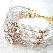Украшения handmade. Livemaster - original item Crystal flower (bracelet). Handmade.