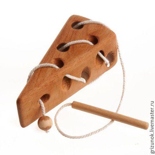 Развивающие игрушки ручной работы. Ярмарка Мастеров - ручная работа. Купить Шнуровка Сыр. Handmade. Коричневый, сыр, для малышей