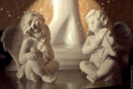 """Фотокартины ручной работы. Ярмарка Мастеров - ручная работа. Купить """"Ангелы"""". Handmade. Бежевый, ангелы, романтичный, нежный, ребенку, для спальни"""
