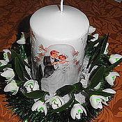 Свадебный салон ручной работы. Ярмарка Мастеров - ручная работа Сувенир Свадебный домашний очаг. Handmade.