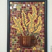 """Картины и панно ручной работы. Ярмарка Мастеров - ручная работа Мозаика из керамики """"Мимоза"""". Handmade."""