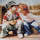 Детская ручной работы. Ярмарка Мастеров - ручная работа. Купить Первый поцелуй. Handmade. Подарок ребенку, картина в подарок