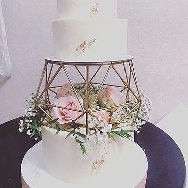 Свадебный салон ручной работы. Ярмарка Мастеров - ручная работа Подставка геометрическая для торта. Handmade.