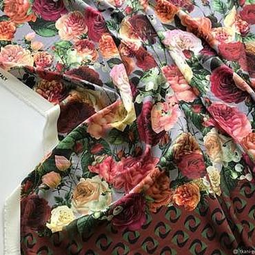 Материалы для творчества ручной работы. Ярмарка Мастеров - ручная работа Нежный шелк с цветочным принтом. Handmade.