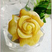 """Украшения ручной работы. Ярмарка Мастеров - ручная работа Янтарь. Кольцо """"Одна роза - это стильно""""  янтарь посеребрение. Handmade."""