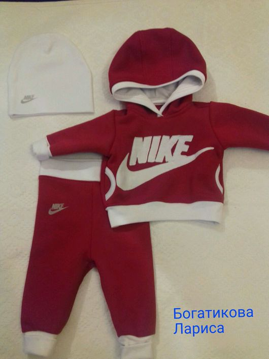 """Одежда ручной работы. Ярмарка Мастеров - ручная работа. Купить Спортивный костюм """"Nike"""" для самых маленьких. Handmade. Найк, для девочки"""