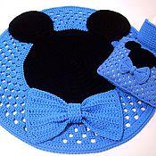 Для дома и интерьера handmade. Livemaster - original item Children`s set Mickey mouse crochet Mat cushion basket. Handmade.