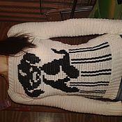 Одежда ручной работы. Ярмарка Мастеров - ручная работа женский свитер Щенок. Handmade.
