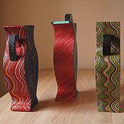 """Сувениры и подарки ручной работы. Ярмарка Мастеров - ручная работа """"Вазы в её доме"""", подарочный набор из трех декоративных ваз. Handmade."""