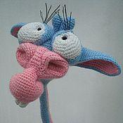 Куклы и игрушки ручной работы. Ярмарка Мастеров - ручная работа Крейзи-жираф Георгий (игрушка вязаная). Handmade.