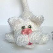 Куклы и игрушки ручной работы. Ярмарка Мастеров - ручная работа Белый кот. Handmade.