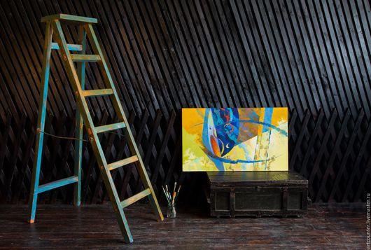 """Абстракция ручной работы. Ярмарка Мастеров - ручная работа. Купить По мотивам гобелена """"Тайны Атлантиды"""". Handmade. Желтый, легенда"""