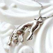 Украшения handmade. Livemaster - original item Pendant (pendant) Panther, Lioness, Cat made of silver (P6). Handmade.