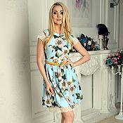 Одежда ручной работы. Ярмарка Мастеров - ручная работа Платье летнее, платье цветочное с кружевом. Handmade.