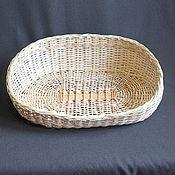 Для домашних животных, ручной работы. Ярмарка Мастеров - ручная работа Плетеная  лежанка из ивовой ленты для собаки или кошки. Handmade.
