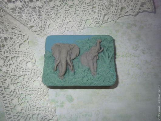 Мыло ручной работы. Ярмарка Мастеров - ручная работа. Купить Мыло. Слоны. Handmade. Слоны, мыльная основа sls free
