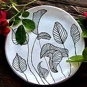 Посуда handmade. Livemaster - original item Handmade plate with a pattern of food colors