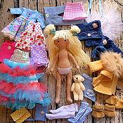 Куклы и игрушки ручной работы. Ярмарка Мастеров - ручная работа Игровая кукла,кукла с гардеробом,кукла с одеждой,одежда для куклы.. Handmade.