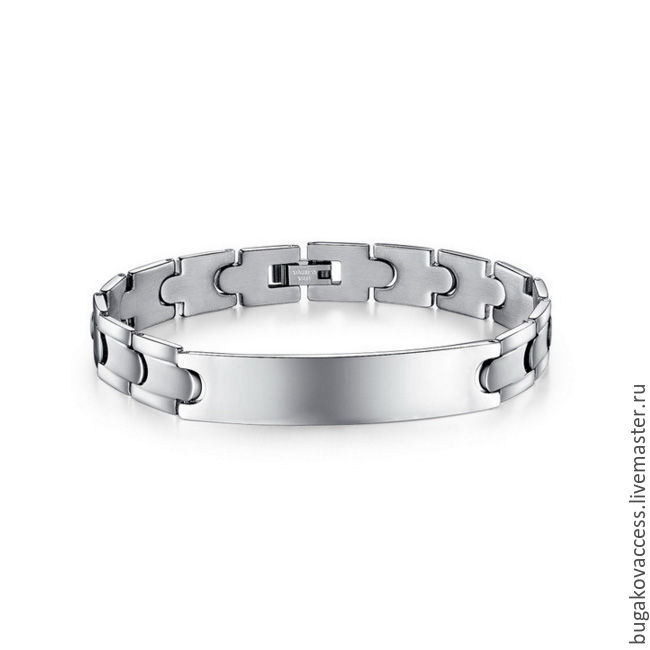 Bracelet jewelry unisex steel under or without engraving, Chain bracelet, Moscow,  Фото №1