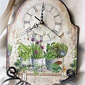 """Для дома и интерьера ручной работы. Ярмарка Мастеров - ручная работа Часы """"Травы Прованса"""". Handmade."""