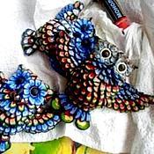 Украшения ручной работы. Ярмарка Мастеров - ручная работа сова. Handmade.