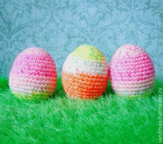 Подарки на Пасху ручной работы. Ярмарка Мастеров - ручная работа. Купить Пасхальные яйца погремушки для детей, мягкая вязаная игрушка. Handmade.