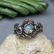 Украшения handmade. Livemaster - original item Silver ring with opal