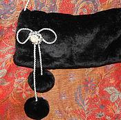 Аксессуары ручной работы. Ярмарка Мастеров - ручная работа Муфта с бантиком. Handmade.