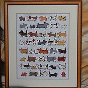 """Картины и панно ручной работы. Ярмарка Мастеров - ручная работа Картина """"I love dogs"""" / """"Я люблю собачек"""". Handmade."""