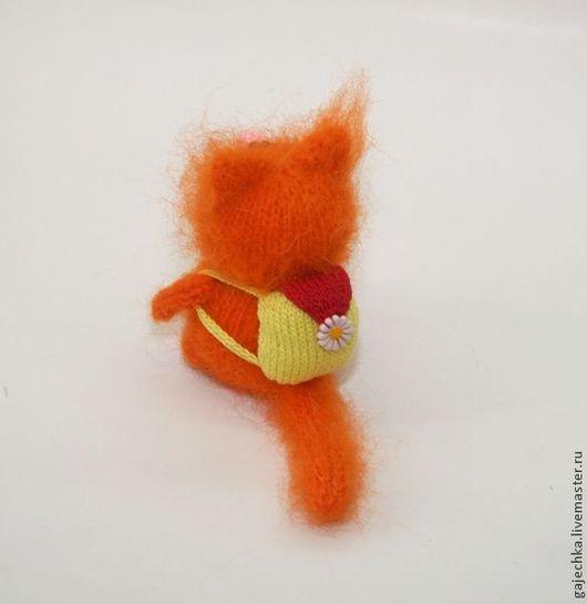 Игрушки животные, ручной работы. Ярмарка Мастеров - ручная работа. Купить Рыжий вязаный кот с рюкзаком. Handmade. Рыжий, котенок