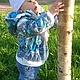 """Для подростков, ручной работы. Куртка для ребёнка """"Весенний ручеёк"""". Юшкова Алеся Олеговна. Ярмарка Мастеров. Теплая куртка"""