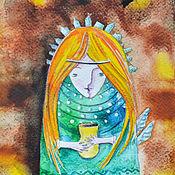 """Картины и панно ручной работы. Ярмарка Мастеров - ручная работа Картина акварелью """"Осень"""". Handmade."""