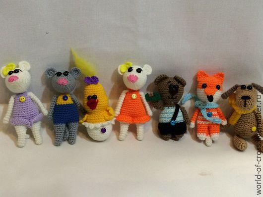 Игрушки животные, ручной работы. Ярмарка Мастеров - ручная работа. Купить Карманные игрушки. Handmade. Комбинированный, собачка, брелки