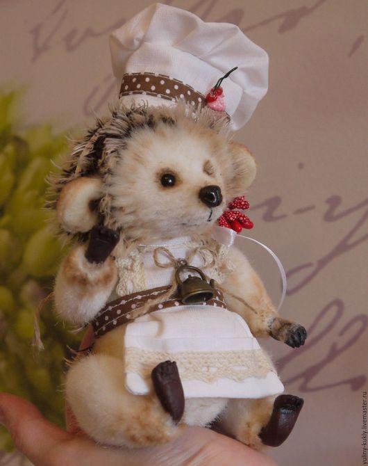 Мишки Тедди ручной работы. Ярмарка Мастеров - ручная работа. Купить Ёжик тедди Поваренок. Handmade. Коричневый, тедди
