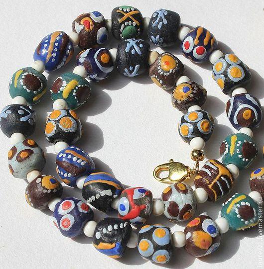 """Колье, бусы ручной работы. Ярмарка Мастеров - ручная работа. Купить Чокер """"Африка"""". Handmade. Африканские бусины, африка"""