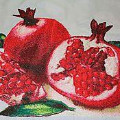 """Картины и панно ручной работы. Ярмарка Мастеров - ручная работа Вышитая картина """"Гранаты2"""". Handmade."""