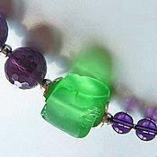 Украшения handmade. Livemaster - original item Small Necklace Provence amethyst, quartz. Handmade.