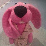 Куклы и игрушки ручной работы. Ярмарка Мастеров - ручная работа зайчишка Нюша. Handmade.