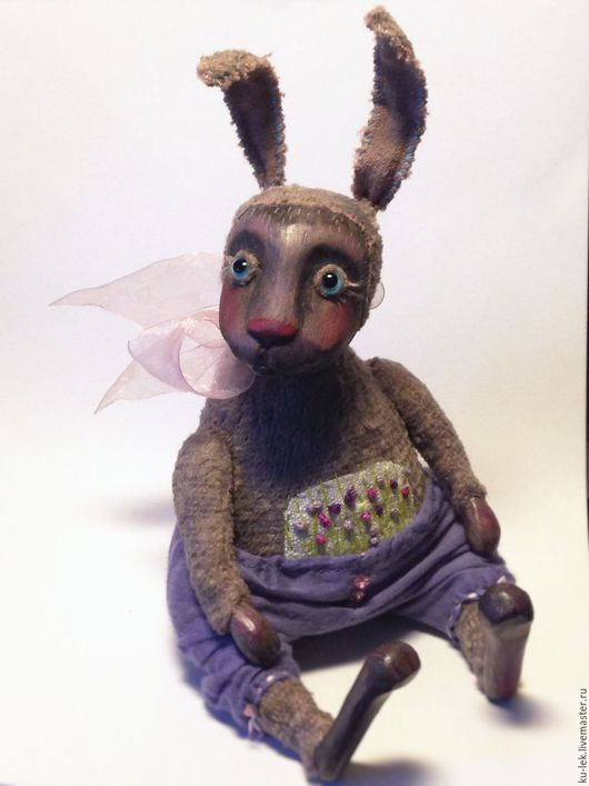 Мишки Тедди ручной работы. Ярмарка Мастеров - ручная работа. Купить Лиловый кролик. Handmade. Сиреневый, заяц