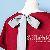 Одежда ручной работы. Ярмарка Мастеров - ручная работа Платье с бантом на спинке. Handmade.